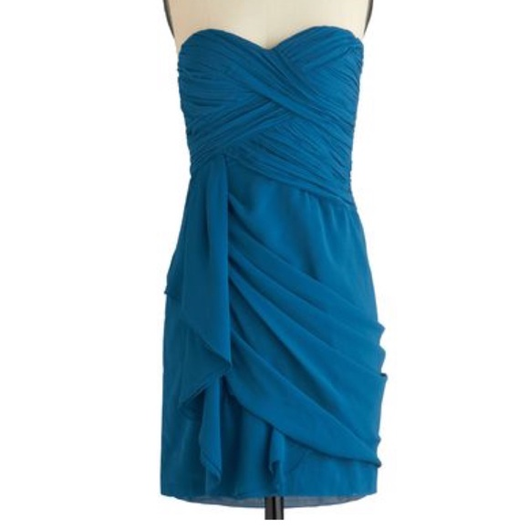 Modcloth Dresses & Skirts - Modcloth emerald strapless dress